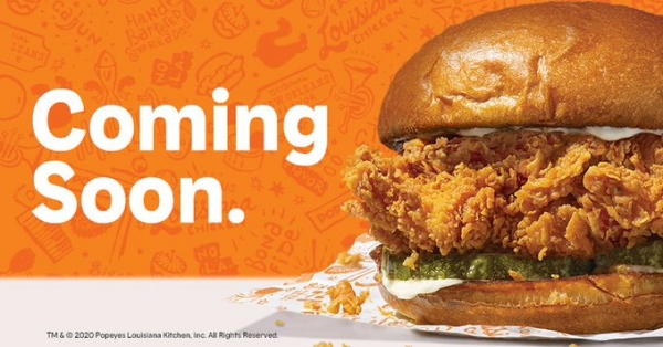 Popeyes' Fried Chicken Sandwich Launching Sep 14!!